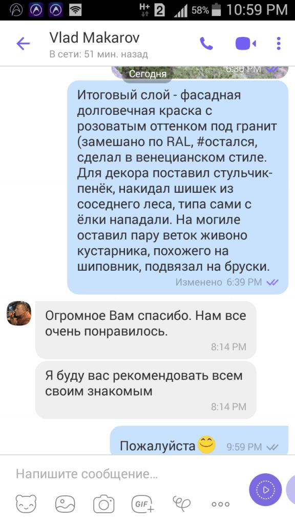 Отзывы о работе